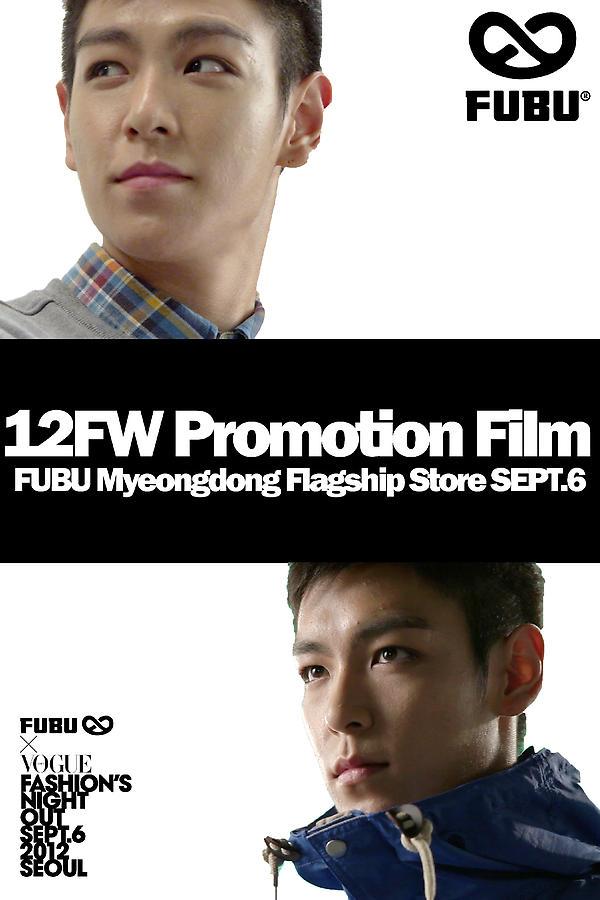 FUBU X VFNO 이벤트 둘, TOP과 함께한 FW Promotion Film 독점공개! 9/6 저녁, 명동 플래그십스토어에 오시면 FUBU 신상으로 스타일링한 TOP의 새로운 영상을 확인하실 수 있습니다. http://t.co/d2t1tLle