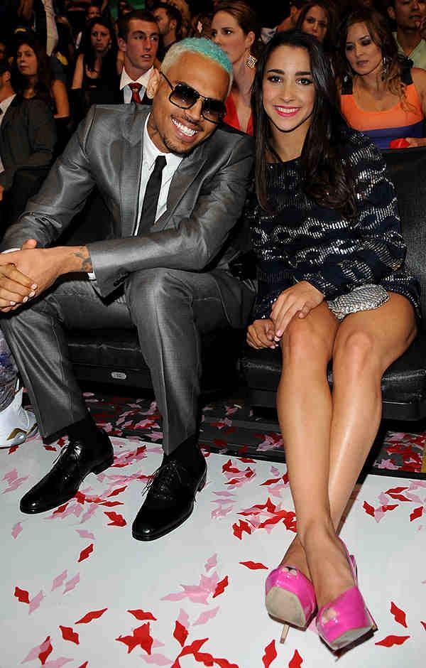Run Away Aly Wait That Looks Like Dennis Rodman Aly_raisman So Nice To Meet You Chris Brown Pic Twitter Com Jzuicli