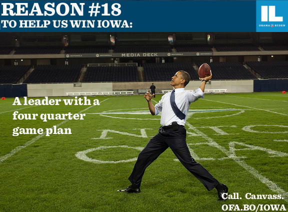 A President with a fourth quarter game plan
