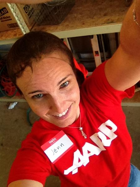 Rockin the hairnet for rice bagging #dayofservice #remembering911 http://pic.twitter.com/ZhJrV9A9