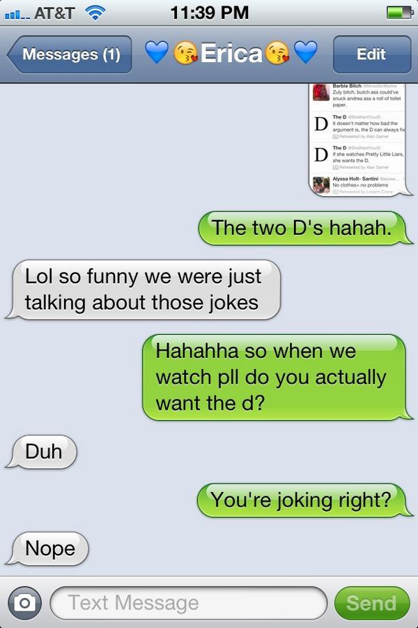 she wants the d jokes