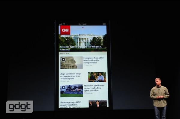Шиллер показывает примеры уже обновленных программ, например, CNN. http://pic.twitter.com/cBsRXbaF
