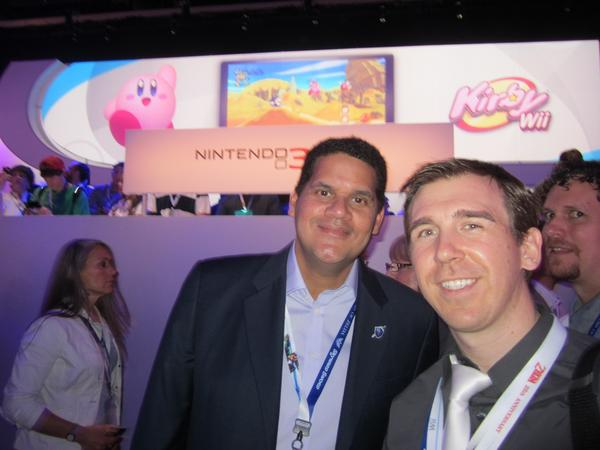 Nintendo of America president, Reggie Fils-Aime, and Paul Gale Network, at E3 2011
