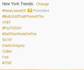 Yep, #PsyTODAY (and @davidgregory) now trending in NY. #gangnamstyle http://pic.twitter.com/JG9vueOc