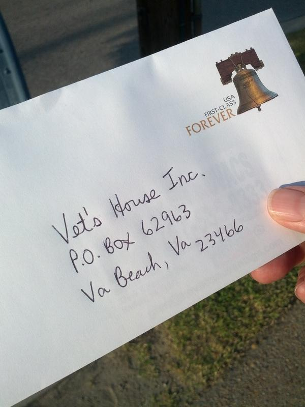 Glen Kovacs On Twitter Donated 100 To Vet S House Inc A Homeless Shelter For Vets In Virginia Beach Please Visit Http T Co 1asgghfo