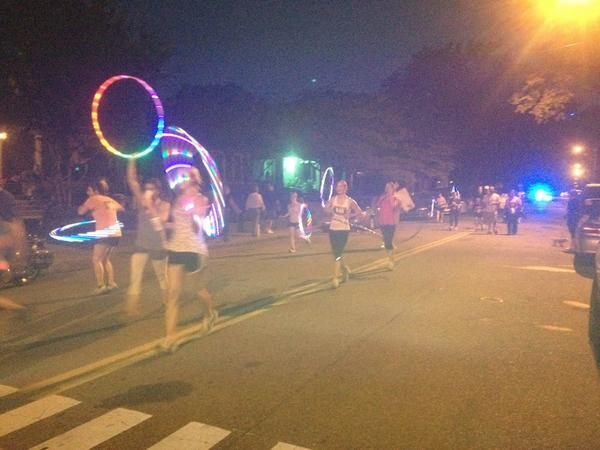 Hoolahooping racers for Cooper-Young 4Miler #cyfest12 http://pic.twitter.com/3iMSE52S