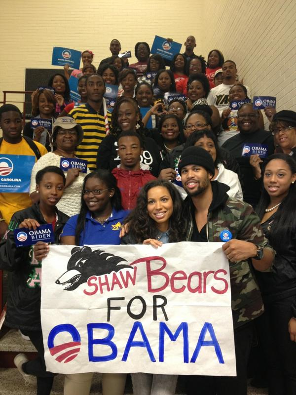 Wow! These @ShawUniversity students are fired up. Thanks @jurneesmollett! http://pic.twitter.com/DhjCj2Ry