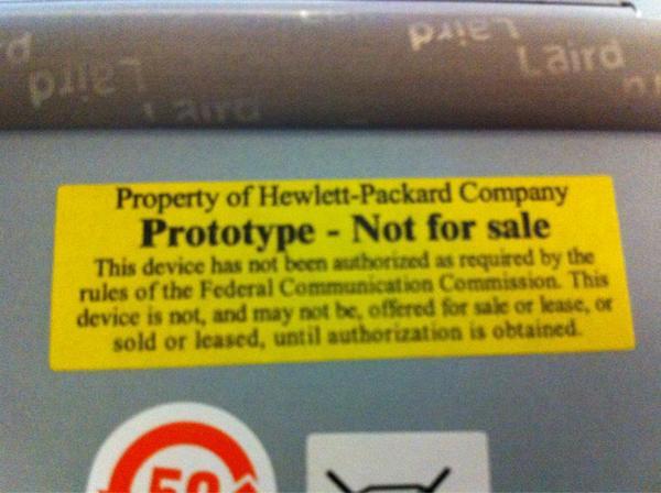 Los prototipos de HP pruebas y desarrollo, no para la venta http://pic.twitter.com/XRWn3Jem