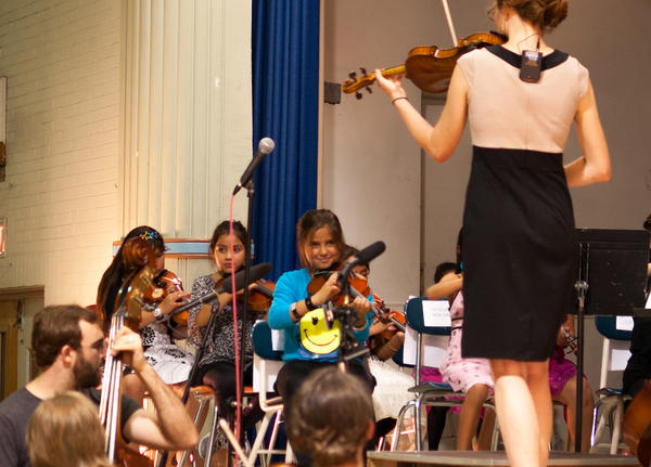 The children of El Sistema perform at the East Somerville Community School
