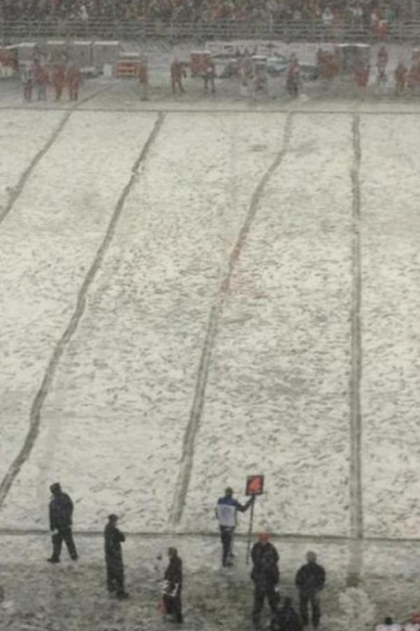 Picture from an NFL game I attended last year. Grounds crew was drunk. http://t.co/VajO1BY8