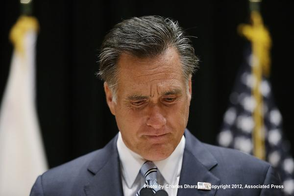 Mitt Romney pauses during press conference about leaked video in Costa Mesa, Calif. via @AP pic.twitter.com/hxuYlrVe