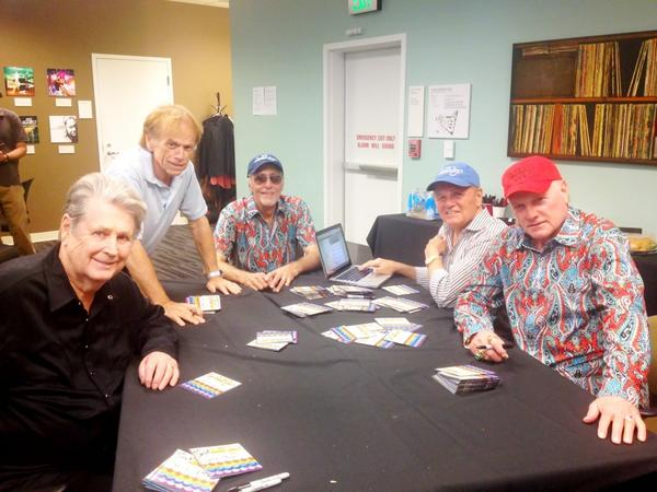 Here we go! Here we are with all FIVE of @thebeachboys. Starting our #BeachBoys Q&A now! http://pic.twitter.com/qJJC8ZJq