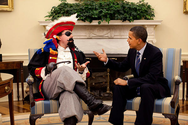 See President Barack Obama's National Talk Like A Pirate Day Photo - President Tweets Funny Picture
