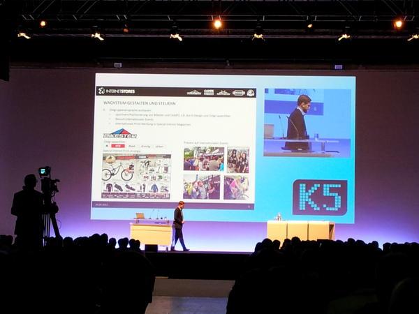 René Marius Köhler von Internetstores an der K5 - Bild via Twitter @danieltrost