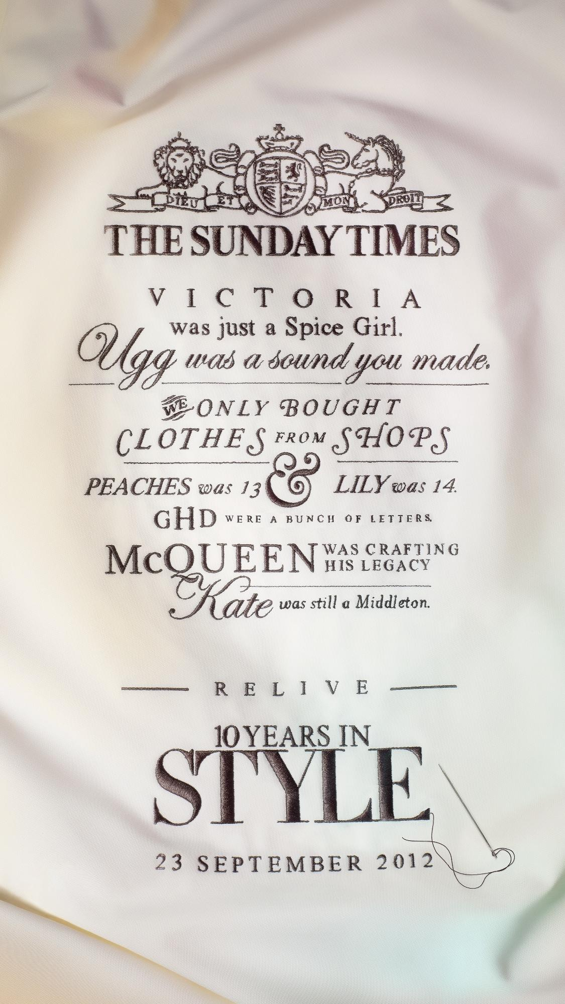 The Sunday Times Style 10th Anniversary