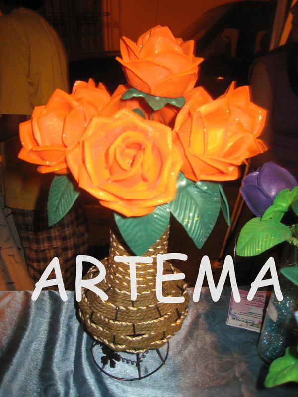 Artemarojas On Twitter Arreglos Florales De Foami Http