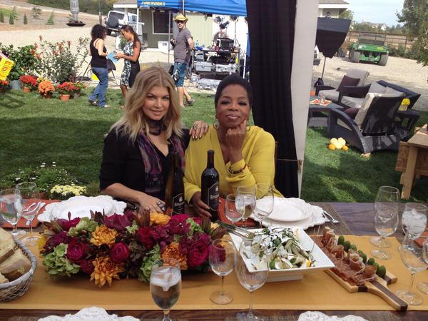 Drinking #Fergalicious w/ @Oprah at @FergusonCrest! #OWN #NextChapter http://t.co/rieTMtUl