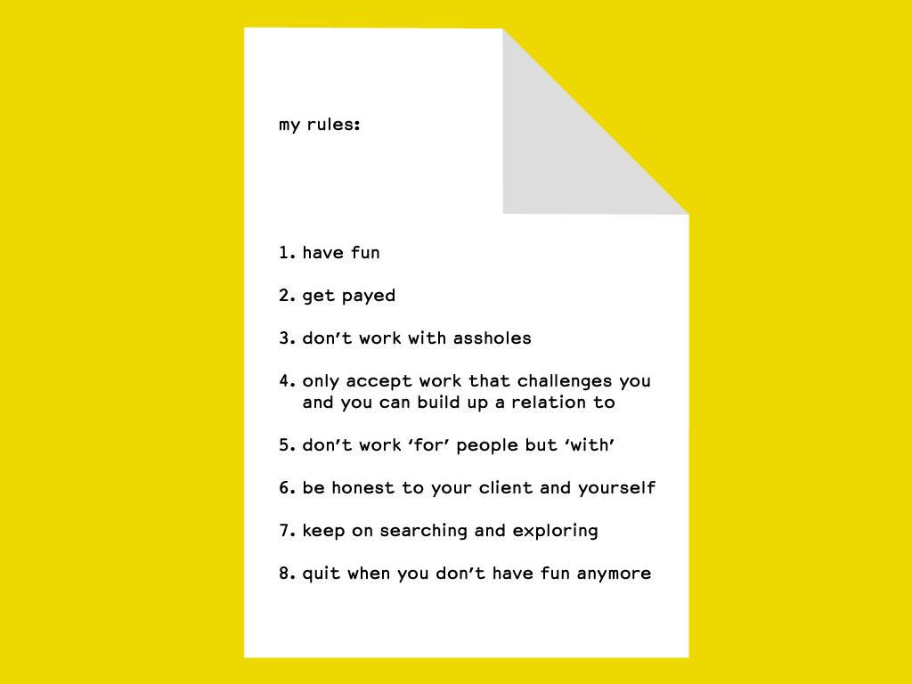 大好きなHORTの仕事訓!RT @Eike_Koenig when I started my studio HORT in 1994 I wrote down some rules which I still follow … http://t.co/liYTi5Bnlv