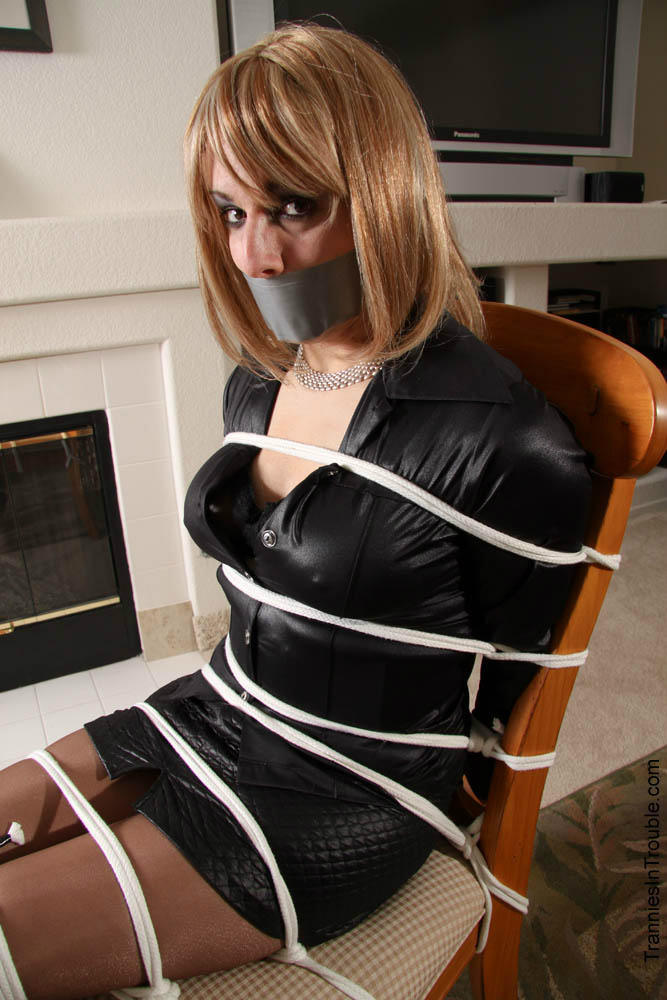 Crossdressers bound and gagged