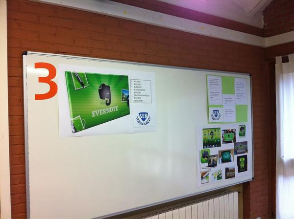 Ultimando los preparativos para recibir al equipo de @evernote_es en el colegio Sek El Castillo @institucionsek http://pic.twitter.com/VgdhSZa8