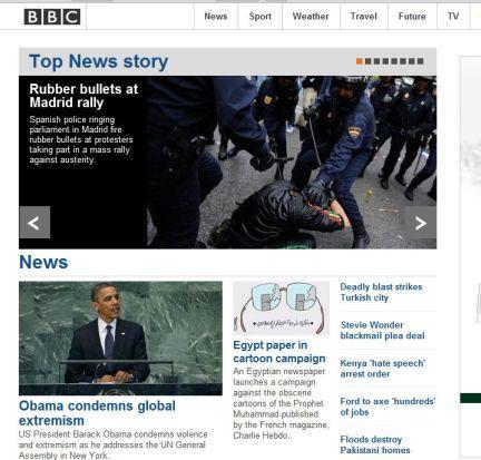 La prensa internacional recoge la protesta del 25-S en Madrid