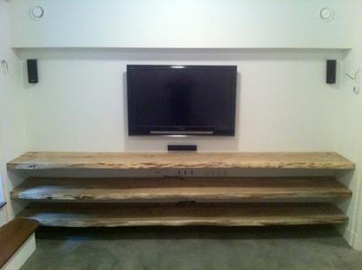 Tv Meubel Wand.Pieter Hoetmer A Twitter Wand Tot Wand Boomstam Tv Meubel Super