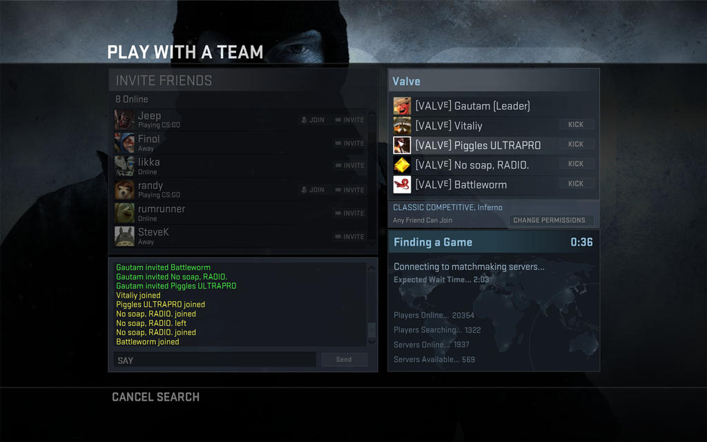 Steam not connected to matchmaking servers cs go