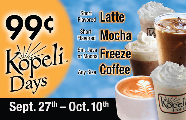 Amigos Kings Classic On Twitter Kopeli Days End Today So Come Find Your Happy With 99 Lattes Mochas Freezes And Coffee By The Of Day