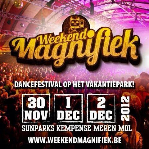 Dancefestival op het vakantiepark van 30 novembert tot en met 2 december. Sunparks Kempense Meren