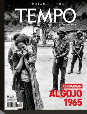 Couverture du numéro spécial de Tempo consacré aux massacres de communistes de 1965-1966.