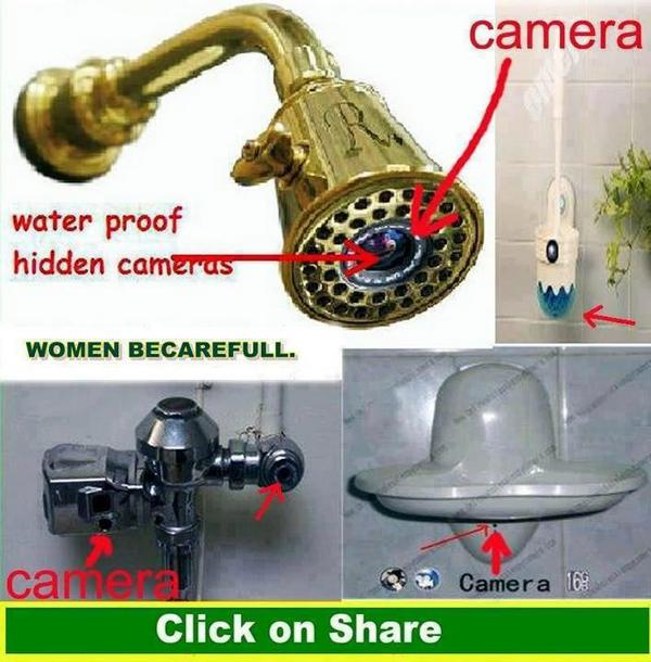 Hidden Camera Yang Biasa Dipasang Di Toilet Be Careful Girls And