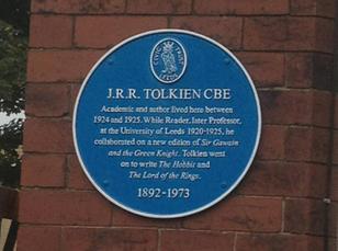 La Sociedad Tolkien coloca una placa en Leeds en memoria de Tolkien