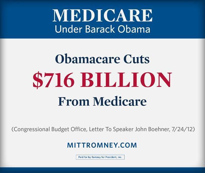Twitter / MittRomney: Medicare under @BarackObama: ...