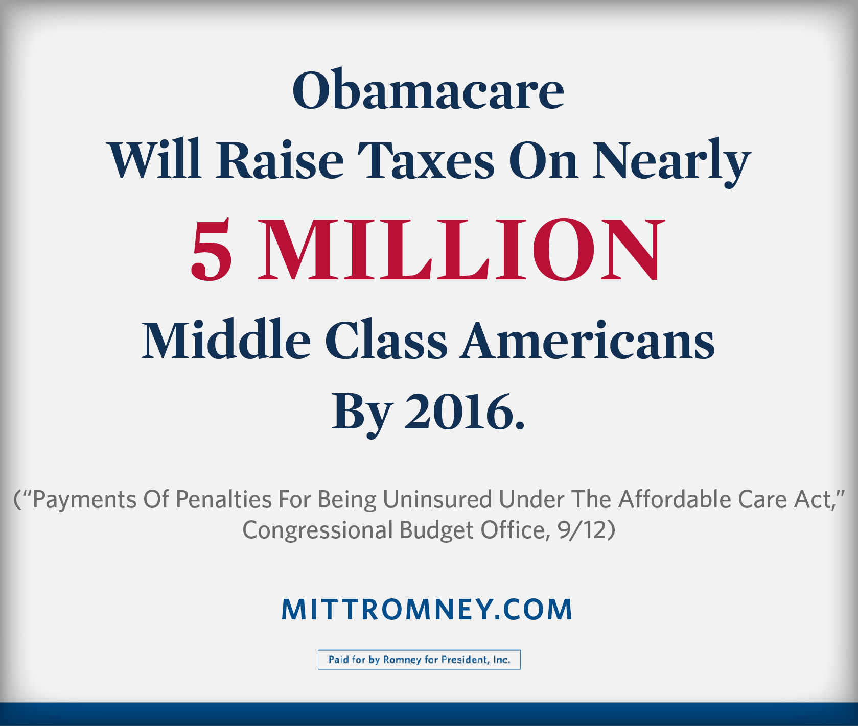 Twitter / MittRomney: Obamacare will raise taxes ...