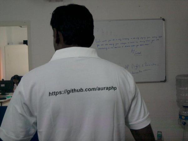 Aura T-Shirt with github url