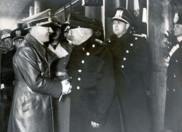 Image result for hitler and mussolini meeting in brenner pass