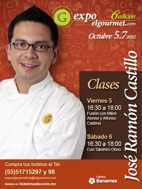 Nuestro exitoso chef José Ramón Castillo @JoseRaCastillo en #Expoelgourmet2012 http://t.co/CF04ZlIa