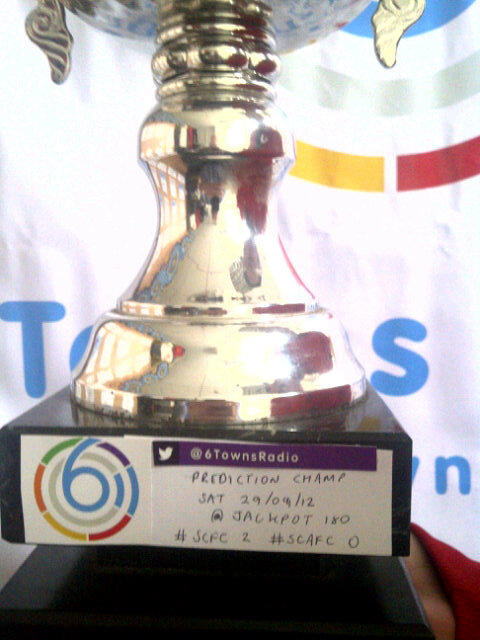 the 6 Towns Radio Football Prediction Trophy @jackpot180