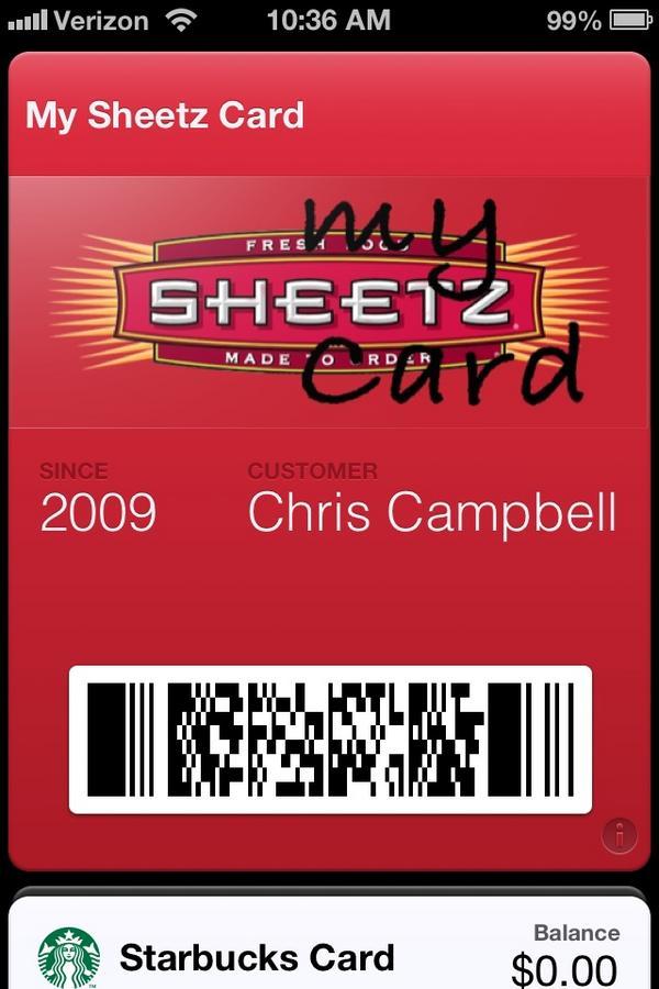 My Sheetz Card Rewards