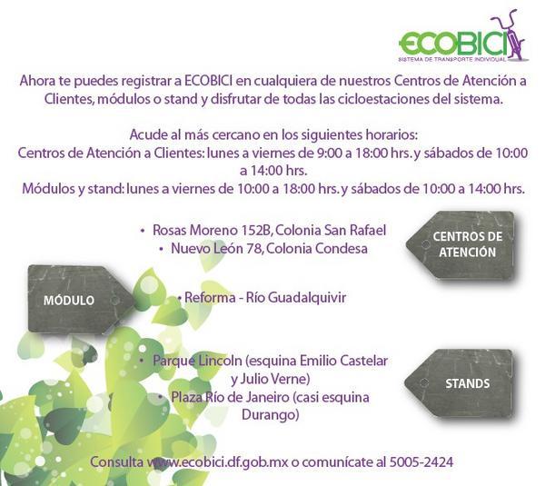 Ecobici Cdmx On Twitter Acudan A Nuestros Stands Módulos