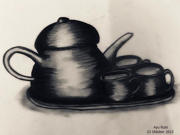 Gambar 30 Buah Gambar Sketsa Pensil Set Kerajinan Mahasiswa Seni