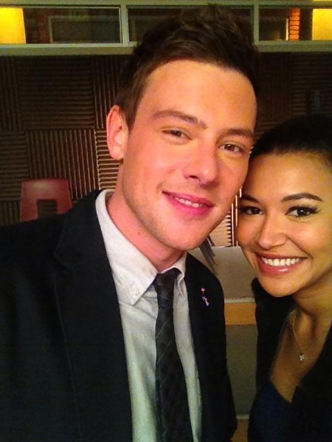 Early morning at work with the one and only Finn Hudson http://t.co/kXWBWuid