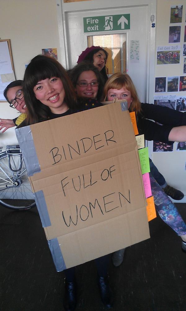BINDER FULL OF WOMEN! #bindersfullofwomen http://pic.twitter.com/eCYTqP9J