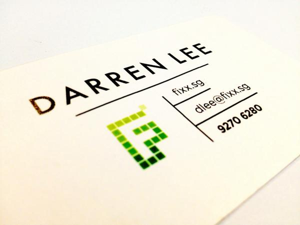 Quite lovin' our new Fixx business cards. Simple yet sexy. And of course, designed by who else but us? http://t.co/a93Ks1s0