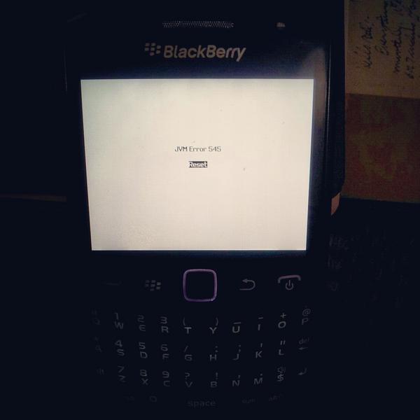 when its blackberry curve 9320 jvm error 545 note that