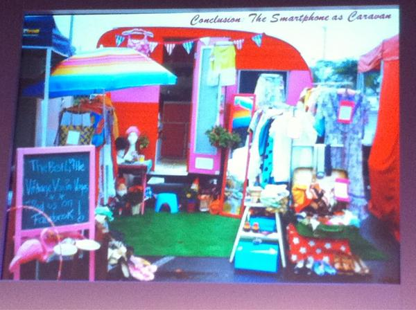 Image of a colourfully decorated caravan
