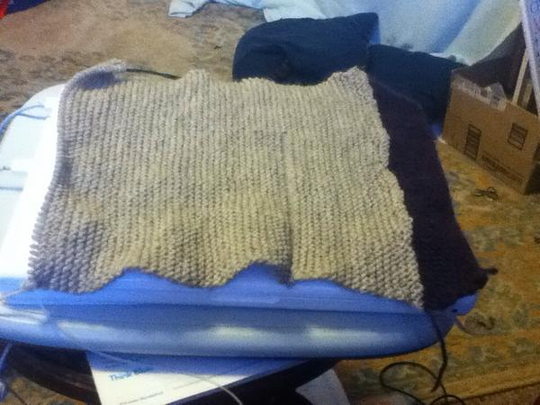 Fourth Doctor scarf in progress