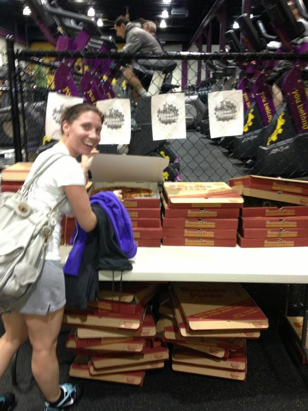 greg tyrrell on twitter pizza night at planet fitness with