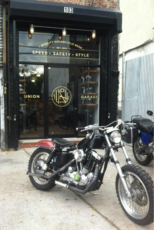 union garage on twitter kerry pierno stopped by the shop on his 1974 hd xl 1000 ironhead sportster thats threatening to become a xlr replica - Union Garage