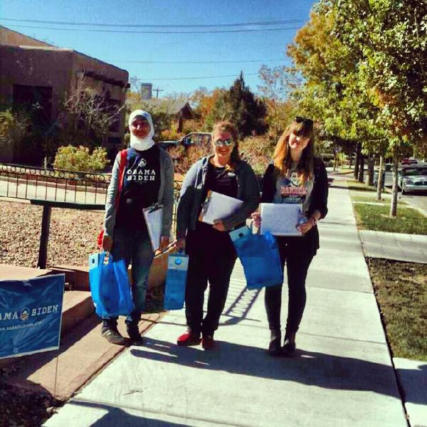 @OFA_NM  Mayeen, Nicole, and Zoë are Gettin Out The Vote for @BarackObama . Go #Lobos! #Obamanos #GOTV #UNM http://pic.twitter.com/yvGqrGB3